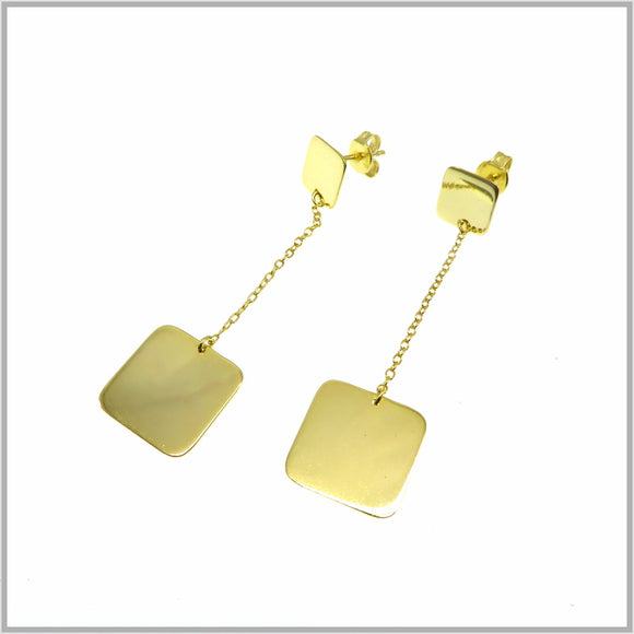 PS9.67 Gold Square Chandelier Earrings