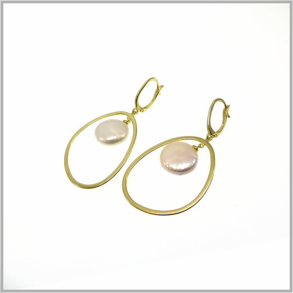 PS9.79 Modern Gold Pearl Earrings