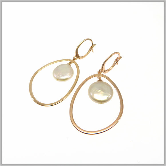 PS9.80 Rose Gold Pearl Earrings