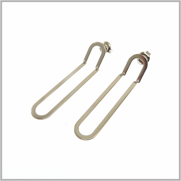 PS9.81 Silver Paperclip Earrings
