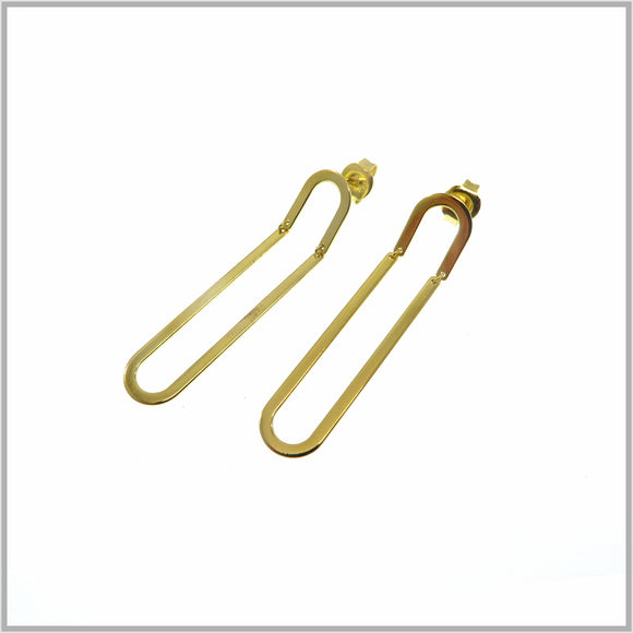 PS9.82 Gold Paperclip Earrings