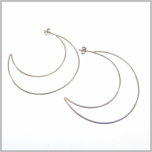 PS9.90 Silver Moon Earrings