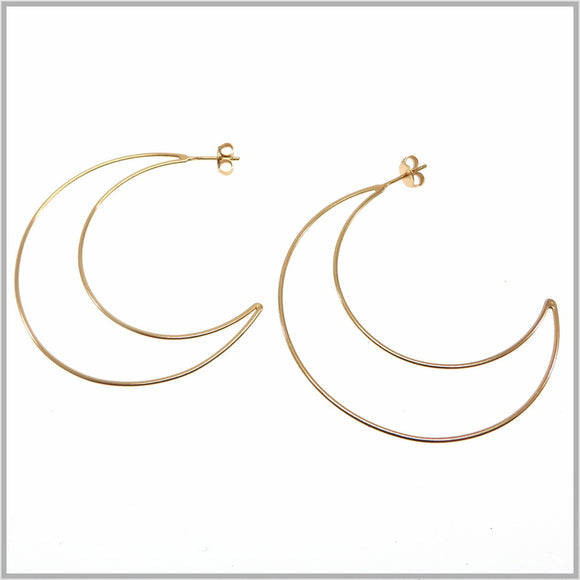 PS9.92 Rose Gold Moon Earrings