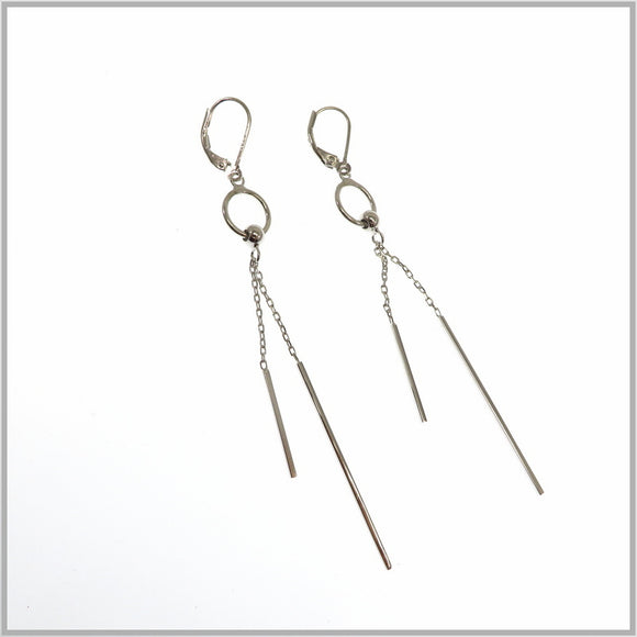 TY1.17 Silver Chandelier Earrings