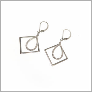 TY1.21 Framed Tear Drop Earrings