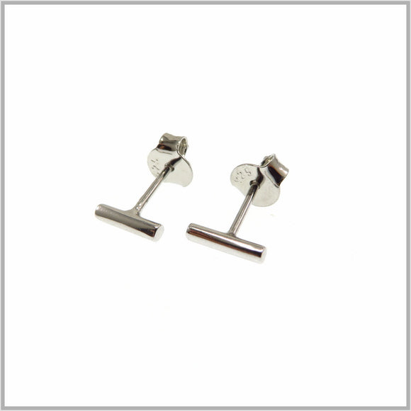 TY1.2 Miniature Silver Bar Earrings