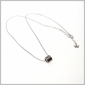 TY1.98 Black Striped Barrel Necklace