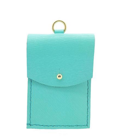 handmade saffiano leather in tiffany blue