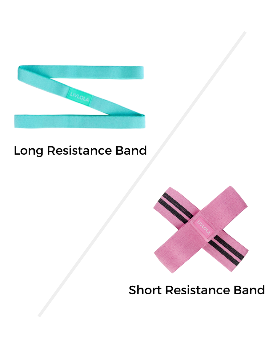 Resistance Band (1+1 Set - Short & Long)