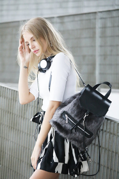 LAURYN MINI BACKPACK in grey
