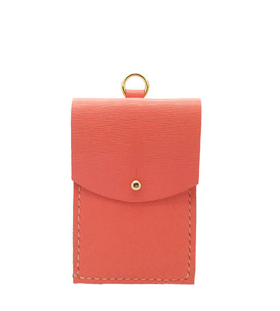 LE JEAN CARDHOLDER in coral pink