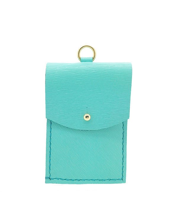 LE JEAN CARDHOLDER in tiffany blue