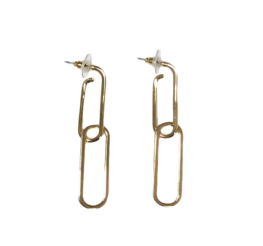 LINK CHAIN STUDS EARRINGS