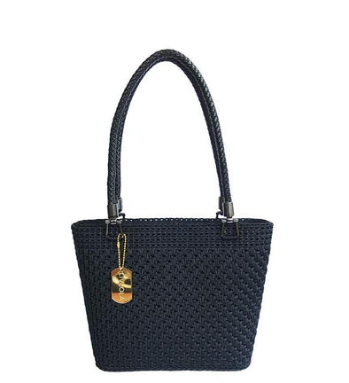 LULLA MINI CROCHET TOTE in black
