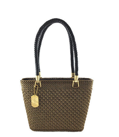 LULLA MINI CROCHET TOTE in brown