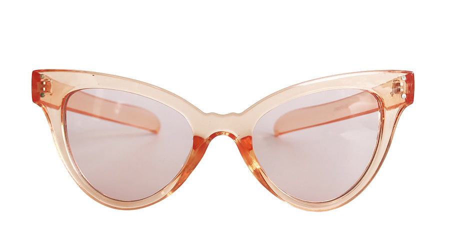 VICTORIA CAT-EYE SUNGLASSES in peach