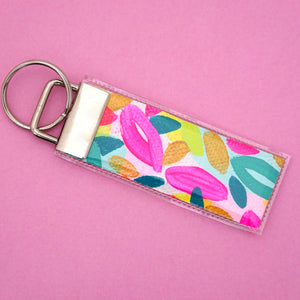 'Colour 10' Canvas Keyring- Poppy Lane Designs