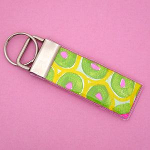 'Colour 12' Canvas Keyring- Poppy Lane Designs