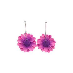 Daisy Dangle Earrings 'Design 1'- Spiky Peach