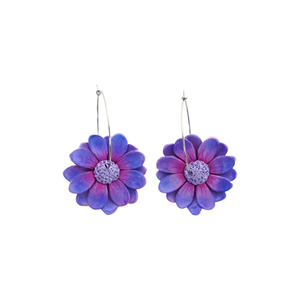Daisy Dangle Earrings 'Design 2'- Spiky Peach