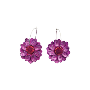 Daisy Dangle Earrings 'Design 4'- Spiky Peach