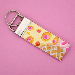 'Colour 18' Canvas Keyring- Poppy Lane Designs