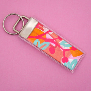 'Colour 22' Canvas Keyring- Poppy Lane Designs