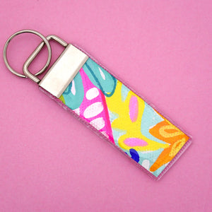 'Colour 24' Canvas Keyring- Poppy Lane Designs