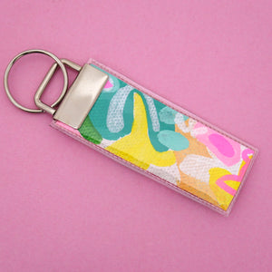 'Colour 25' Canvas Keyring- Poppy Lane Designs