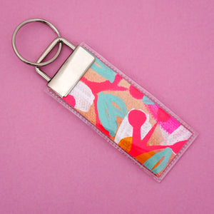 'Colour 28' Canvas Keyring- Poppy Lane Designs
