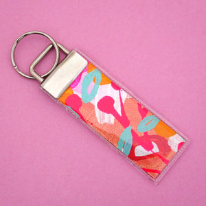 'Colour 2' Canvas Keyring- Poppy Lane Designs