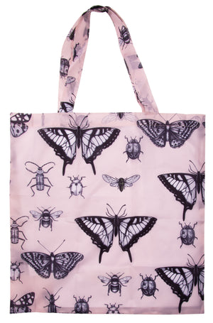 Blush Pink Insects Foldable Shopping Bag