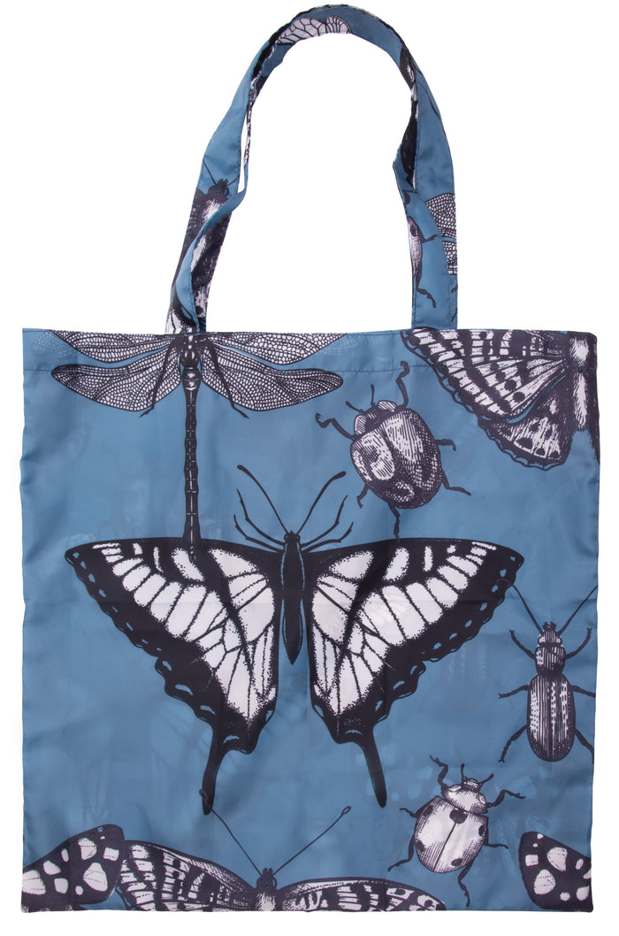 Blue Insects Foldable Shopping Bag