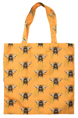 Mustard Bee Foldable Shopping Bag