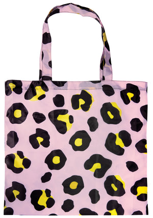 Blush Pink Leopard Print Foldable Shopping Bag