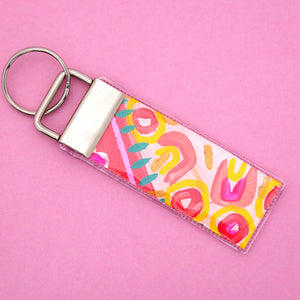 'Colour 3' Canvas Keyring- Poppy Lane Designs