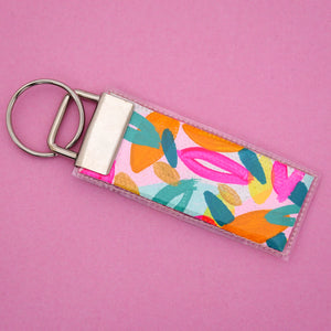 'Colour 7' Canvas Keyring- Poppy Lane Designs