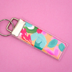 'Colour 8' Canvas Keyring- Poppy Lane Designs