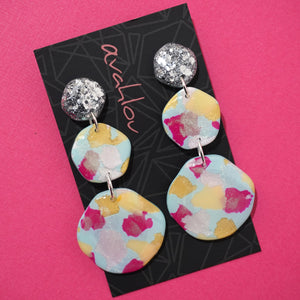 Resin & Polymer Clay Dangles 'Design 7'- Avahlou