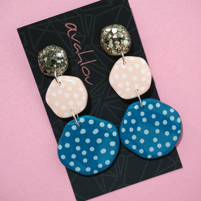 Resin & Polymer Clay Dangles 'Design 8'- Avahlou