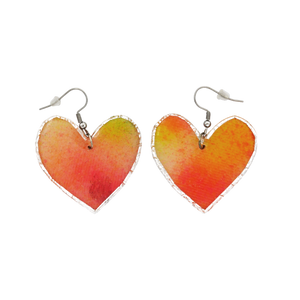 Heart Hook Dangle Earrings 'Colour 3' - Aberline Belle Design