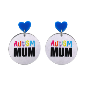 'Autism Mum' Dangle Earrings