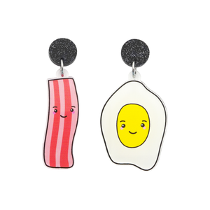 'Bacon & Eggs' Food Dangle Earring