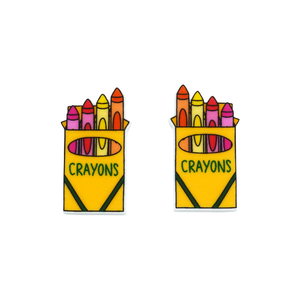 Crayon Statement Stud Earring - Timber & Cotton