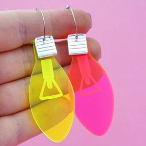 Christmas Light Hoop Dangles- Timber & Cotton