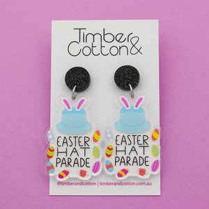 'Easter Hat Parade' Dangle Earrings