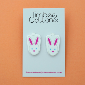 Easter Marshmallow Bunny Statement Stud Earring