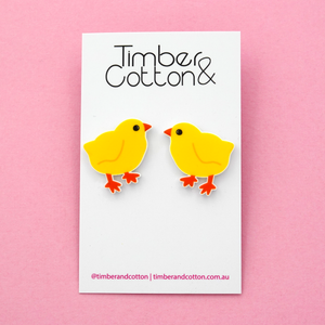 Easter Chicken Statement Stud Earring