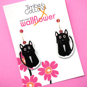 Tubby the Tuxedo Cat Hoops- Collaboration with She's That Wallflower