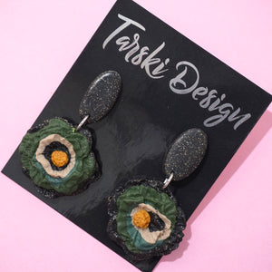 Chunky Flower Drop Dangles Design 5- Tarski Design